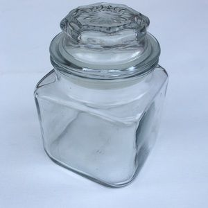 vintage glass canister anchor